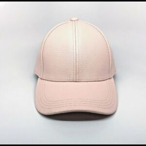 Mossimo Dusty Pink Faux Leather Baseball Cap